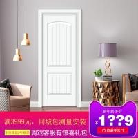 欧丽亚木门简欧风格扣线白色烤漆室内门客厅门卧室套装木门