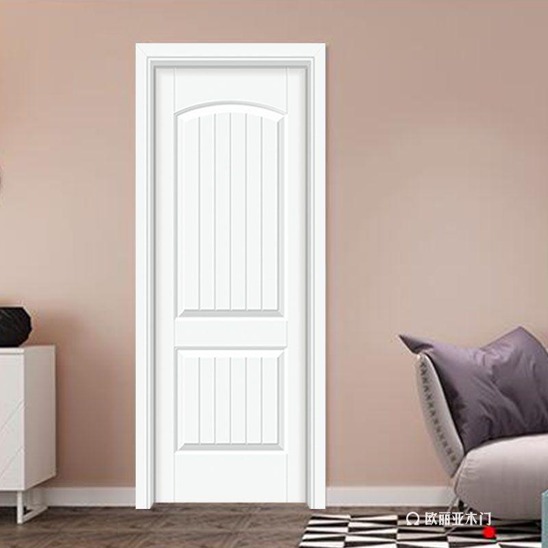 歐麗亞雷競技簡歐風格扣線白色烤漆室內門客廳門臥室套裝雷競技