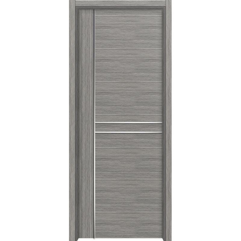 歐麗亞雷競技現代風格白色黑色室內門金屬條客廳門臥室復合套裝雷競技
