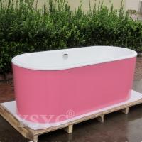 工程浴缸1.5米/1.7米独立式椭圆钢板裙边浴缸
