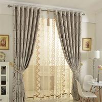 成品窗帘布料 定制客厅卧室飘窗遮光遮阳欧式简约现代落地窗ld