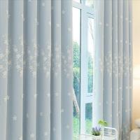 田园风格窗帘窗纱遮光布料 成品定制卧室客厅阳台飘窗落地窗hy