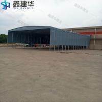 唐山大型倉庫遮陽棚現場安裝移動式電動雨棚圖紙設計