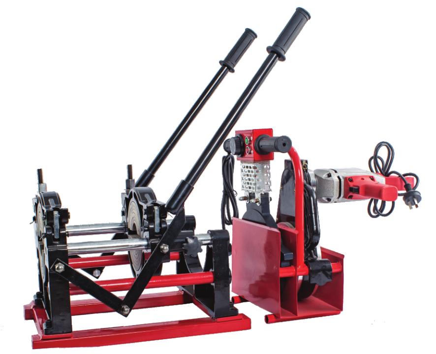 pe管熱熔對焊機小管徑專用160-63兩環手動手推