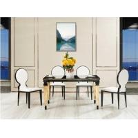 【拉帕.拉尼】易清洁玻璃面板 现代轻奢1.4米餐桌