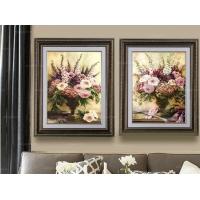 花团锦簇 欧式花卉装饰画卧 室客厅墙壁有框画 家居