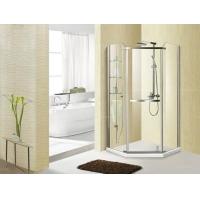 荣纳卫浴 铝合金钻石淋浴房 钢化玻璃简易淋浴房浴室隔断 带置