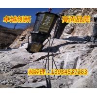 咸陽石頭上打個孔就能直接給石頭分裂設備