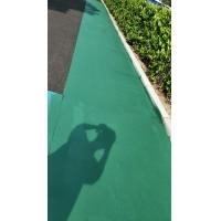 彩色沥青路面掉色颜色翻新 沥青路面改色喷涂