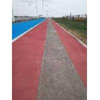 彩色路面施工  彩色人行道造价  沥青路面改色剂