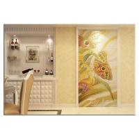 南京瓷砖石材雕刻-南京锦熙金典艺术玻璃厂-瓷砖背景墙