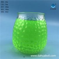 徐州生產400ml出口工藝玻璃燭臺蠟燭玻璃杯批發