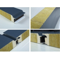 聚氨酯封边岩棉彩钢复合板