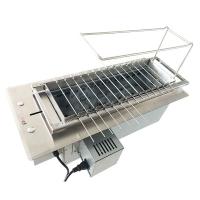 食之秀环保商用全自动翻转木炭烧烤机烤串机
