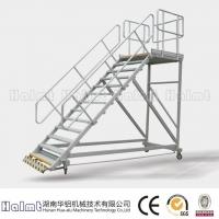 工厂直供铝合金移动平台梯 工作平台梯