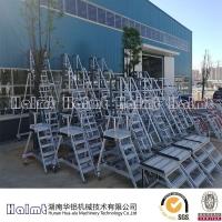 供应铝合金移动升降工作梯 移动工作平台梯