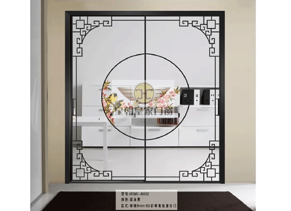 16现代极简中空门-移门生产厂家-移门加盟商-南京皇朝家居