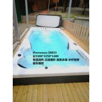 福州独立庭院平放安装无边际恒温功能游泳池