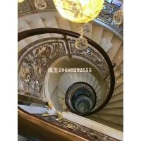 红河弧形铜楼梯艺术雕花护栏
