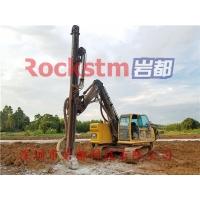 石料厂开采挖机改装钻孔机挖机改液压钻机一吨成本岩都