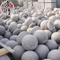 芝麻灰石材报价,芝麻灰球形路障,石材路障球价格