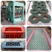QT3-15植草护坡砖机 多功能液压铜钱草坪砖机