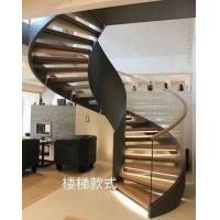 旋转楼梯双梁楼梯玻璃楼梯实木楼梯工厂直销