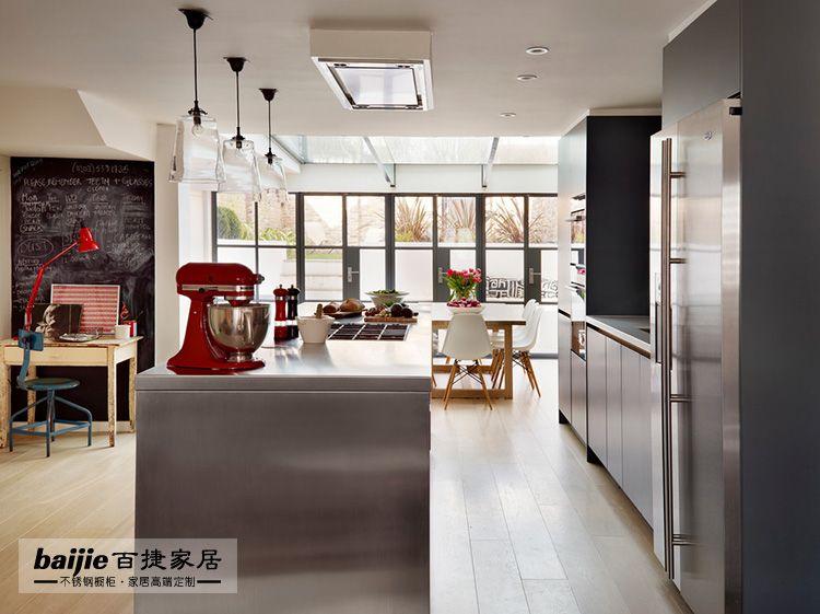 长沙百捷家居不锈钢橱柜价格高端别墅橱柜定制旧厨房改造