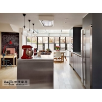 旧厨房改造都选不锈钢橱柜 百捷家居不锈钢橱柜价格