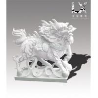 供应定制纯手工雕刻优质汉白玉动物雕像