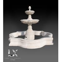 供应定制纯手工雕刻优质汉白玉石雕喷泉
