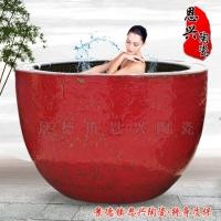 景德镇陶瓷沐浴缸 陶瓷泡澡缸温泉洗浴缸