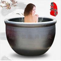 定做精美陶瓷洗浴大缸 温泉泡澡缸 景德镇陶瓷大缸