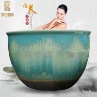定做日式陶瓷泡澡缸 澡堂洗浴大缸