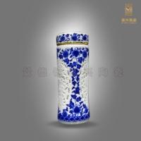定做陶瓷保温杯 高档礼品保温杯 青花瓷保温杯