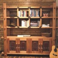 牛仔部落 红胡桃木书房书柜 北欧艺家实木家具定制
