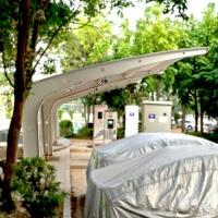 廠家定制公園膜結構景觀棚 張拉膜結構體育看臺汽車停車棚工程