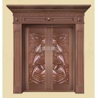 黄冈铜门按需定制-黄冈双开铜门工艺-黄冈玻璃铜门设计图