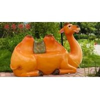成都卡通雕塑 四川卡通雕塑 玻璃鋼卡通雕塑仿真卡通駱駝座椅
