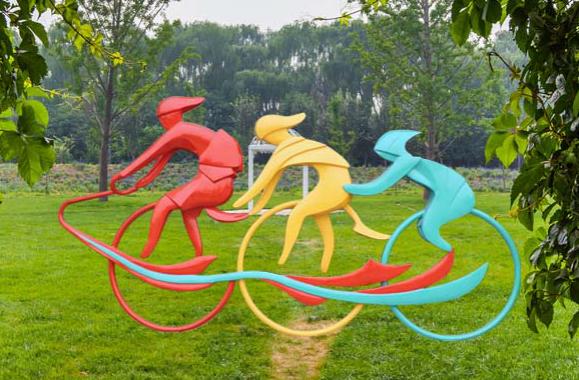 绿道运动雕塑 成都运动雕塑