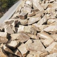 天然黄色砂岩石材砌墙块石 铺地碎拼乱形石文化石 景观墙毛石片