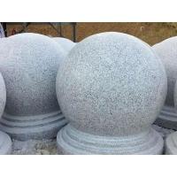 花崗巖石球路障石廣場公園口石圓球隔離分流防撞石墩擋車石球