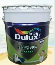 多乐士乳胶漆竹炭金装净味五合一环保白室内墙面彩色5合1涂料1
