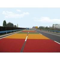 南京彩色防滑路面 彩色顆粒防滑道路