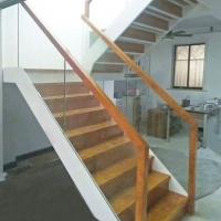 南京实木楼梯-玻璃护栏-南京爱步楼梯