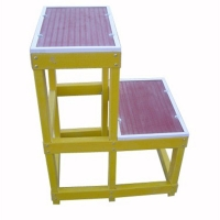 玻璃钢绝缘高低凳电工梯凳可移动式防静电双层绝缘凳安全平台梯子