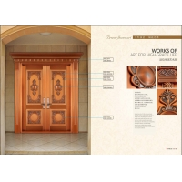 专业别墅铜门定制青铜门对开大门
