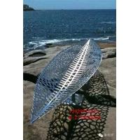 316不锈钢树叶雕塑  抽象叶子不锈钢雕塑