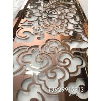 广东不锈钢欧式雕花屏风电镀玫瑰金隔断质量好