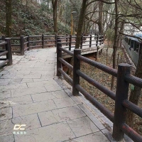 福建三明水泥仿木护栏-南平仿树皮3D型护栏